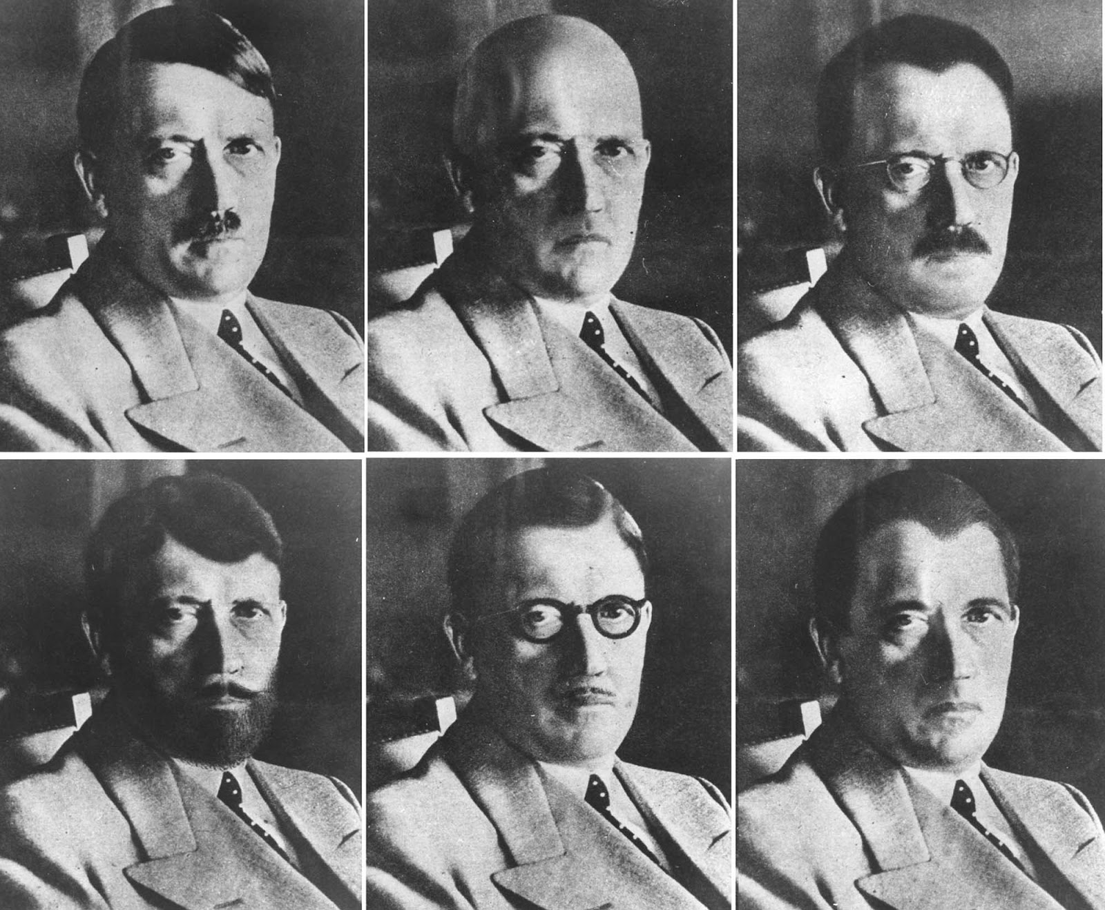 Mockups of how Hitler could have disguised himself.