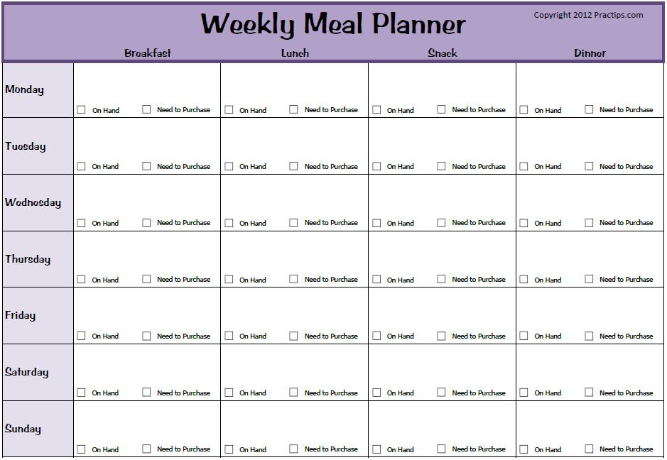 Diet Plan Template blank meal plan template printable menu menu – Menu Planner Templates