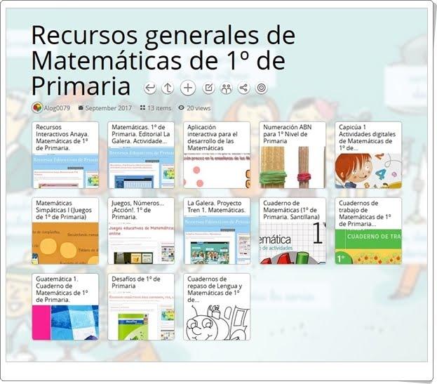 """""""13 Recursos generales de Matemáticas de 1º de Primaria"""""""