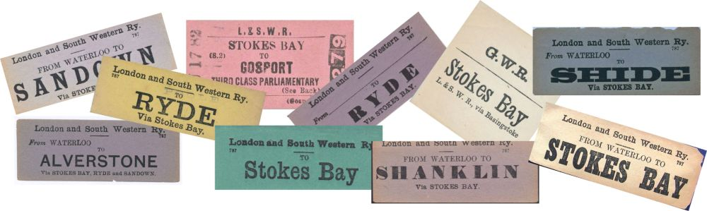 Tickets from the Stokes Bay Line