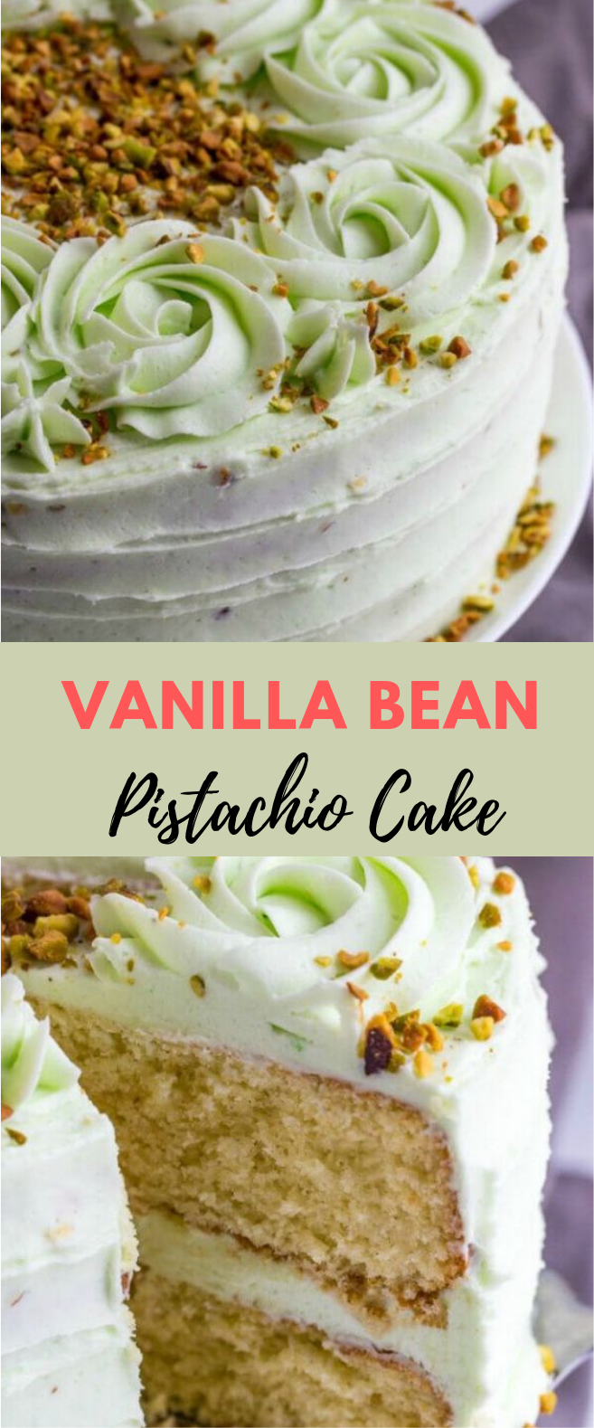 VANILLA BEAN PISTACHIO CAKE #cake #dessert