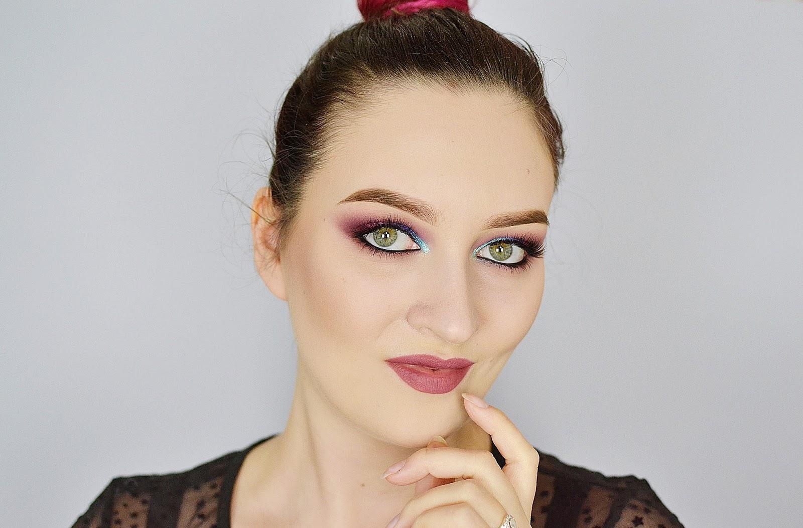 błyszczące smoky eye tutorial
