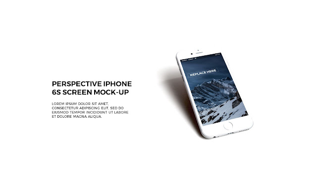 Free PowerPoint Template with Realistic iPhone 6s APP UI Mockup in White Background
