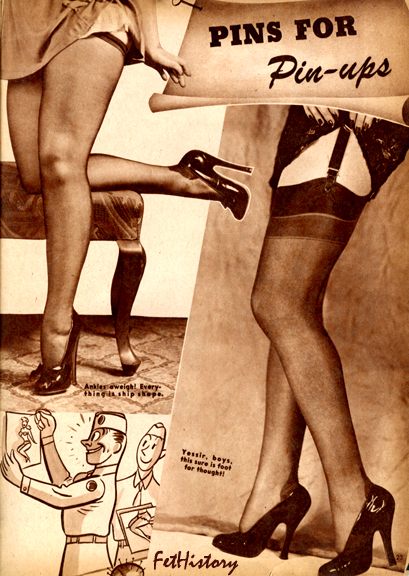 Charles Guyette, corsets, stockings, ultra high-heel shoes, boots