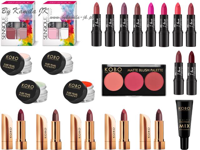 Nowości Natura matowe szminki sypkie pigmenty rozjaśniacz podkładu paletka róży Kobo My Secret Sensique