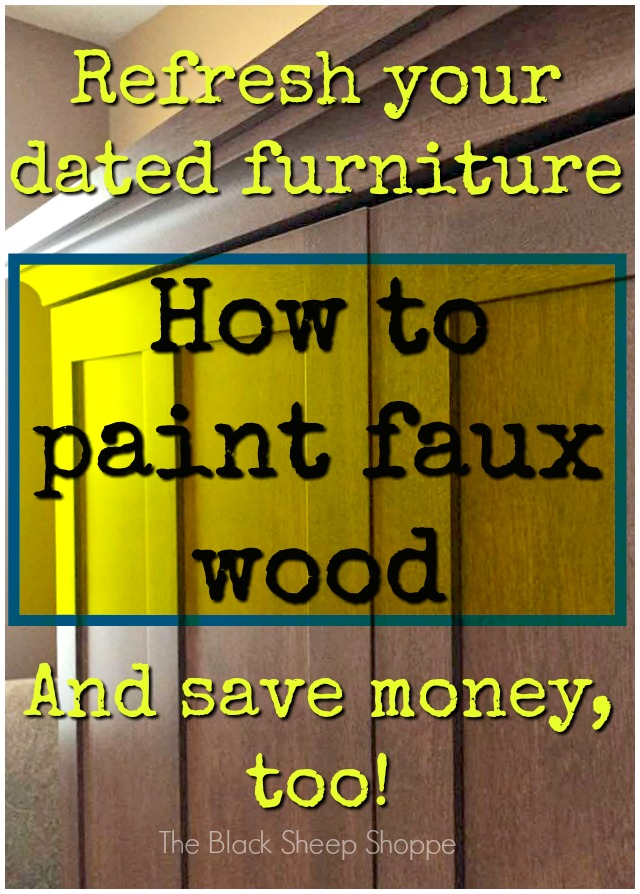 How to paint faux wood.