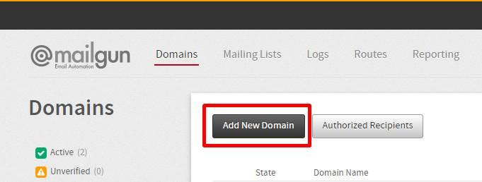 Menambahkan domain pada mailgun