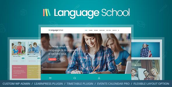 WordPress Education Themes Language School - Education WordPress