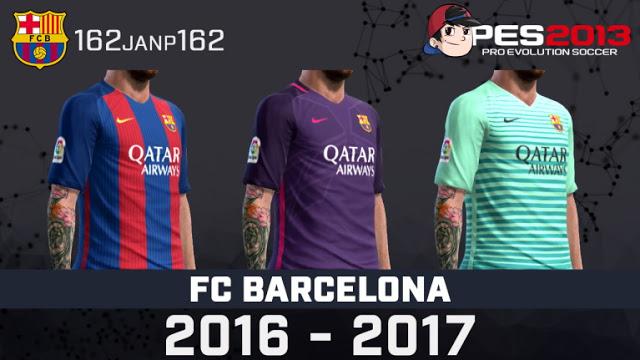 PES 2013 FC Barcelona 2016 2017 New GDB Kits Fix 301b28676