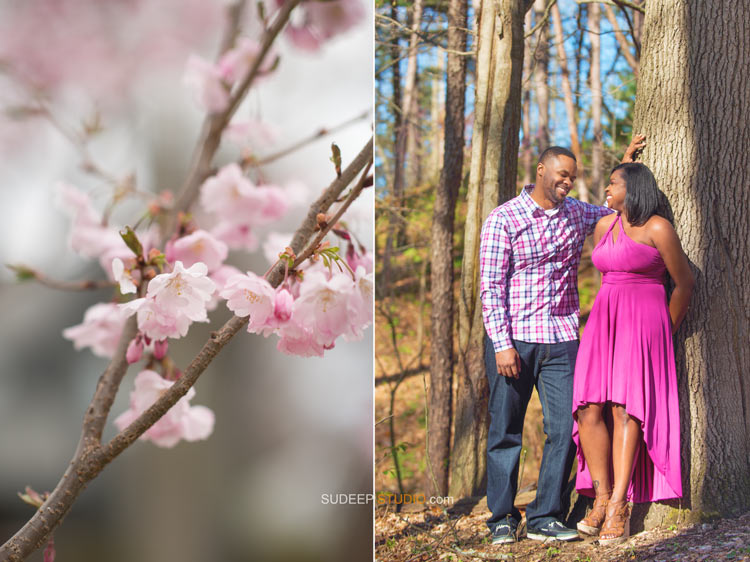 Spring Summer Forest Engagement Portrait Photography - Ann Arbor Photographer Sudeep Studio.com