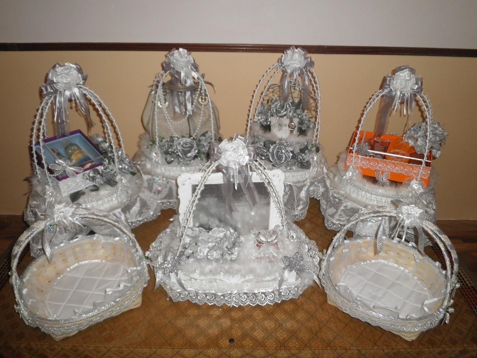 Silver Wedding Gift: Brides.blush: Wedding Gift Trays- White/Silver & Black/Gold