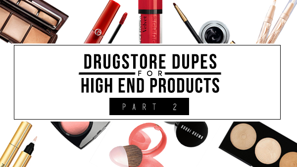 Drugstore Dupes for High End Products chanel ysl giorgio armani