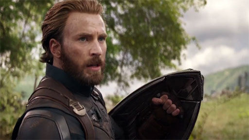 Chris Evans looks oh-so-sexy with longer hair and full woofy beard in Avengers: Infinity War