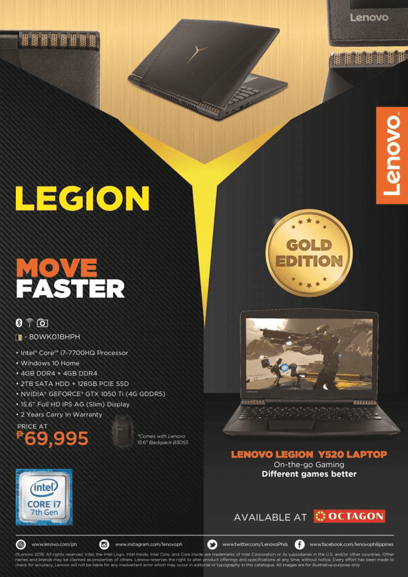 Limited Edition Lenovo Y520 Gaming Laptop now available in PH