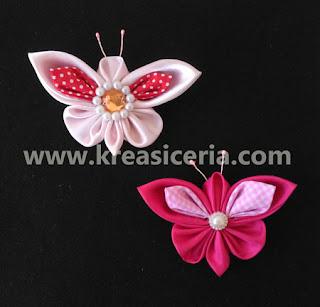 Tutorial Membuat Kanzashi Kupu-kupu dari Kain Perca