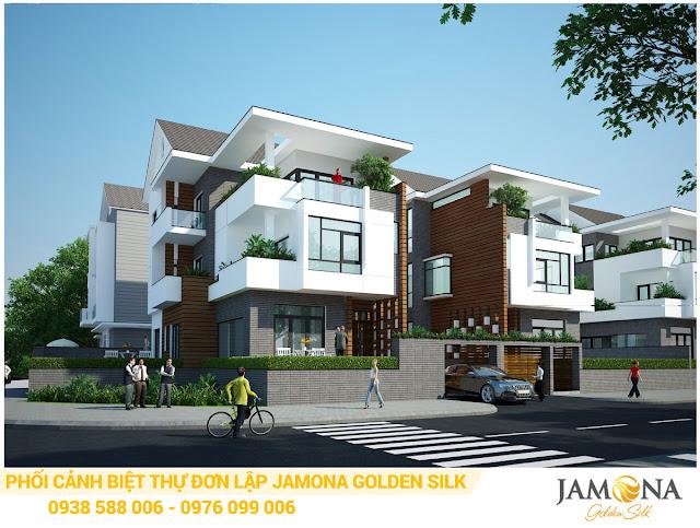 Thiết kế phối cảnh nhà biệt thự đơn lập dự án Jamona Golden Silk quận 7