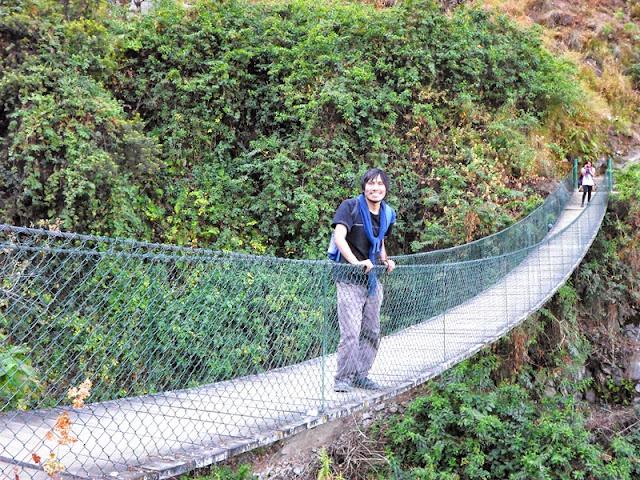 Catarata de Mortero- Puente Colgante