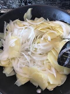 tortilla de patata con cebolla - ingredientes
