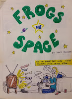 cover of the epic space opera: Frogs in Space, by budding artist and writer David Borden, (c) 1983 by David Borden.