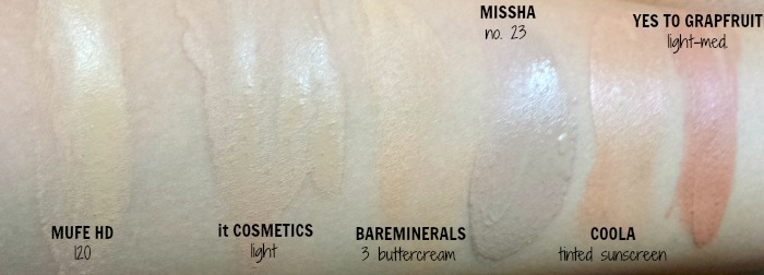 REVIEW | it Cosmetics Your Skin But Better CC Cream SPF 50+ in light swatches