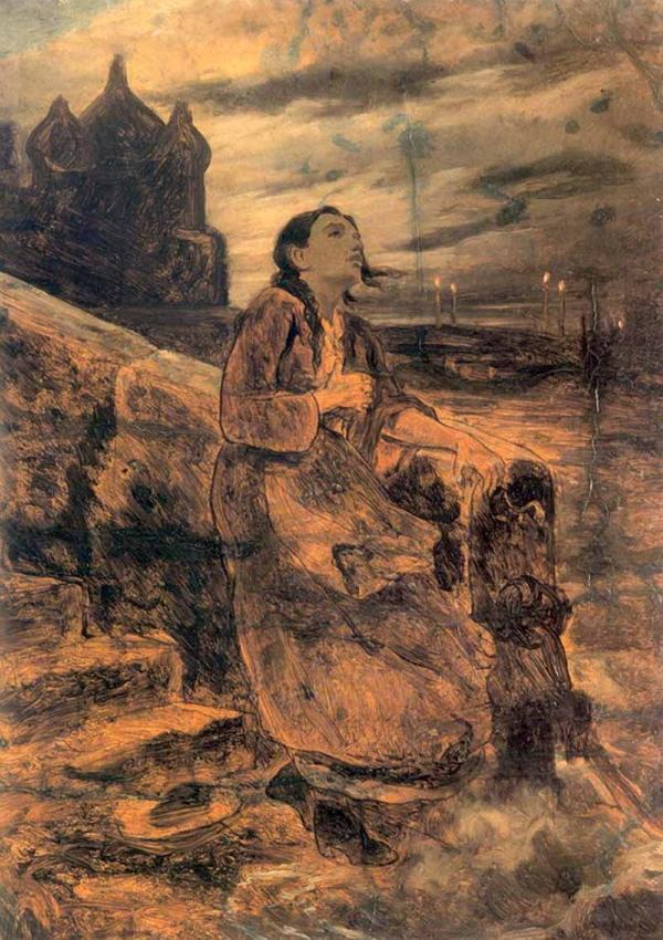 Перов Василий Григорьевич Девушка, бросающаяся в воду