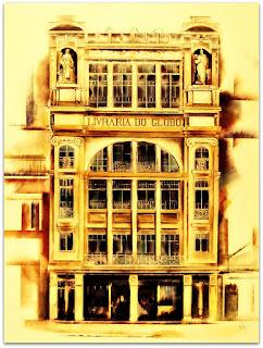 Livraria do Globo, Primeira Metade do Século XX - Pintura de Vitório Gheno, 1923