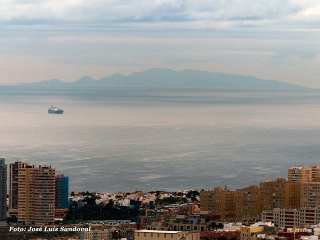 Vídeo y fotos de Fuerteventura vista desde las palmas de Gran Canaria 21 noviembre