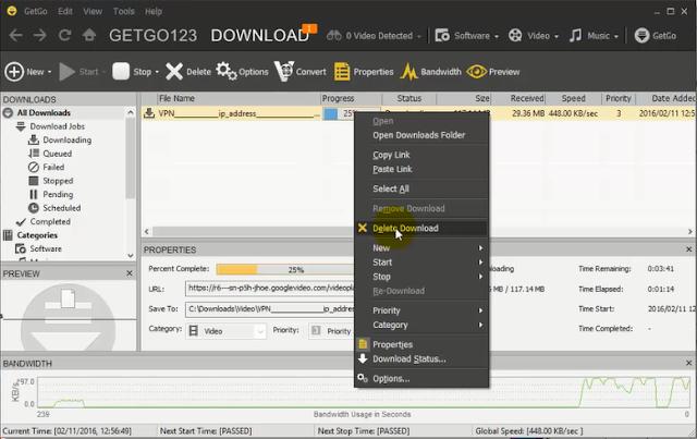 تحميل وتثبيت وشرح برنامج GetGo Download Manager للتحميل من الأنترنت واليوتيب