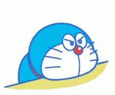 gambar Doraemon lucu sedih