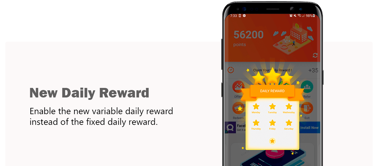 Cash Wall Daily Reward