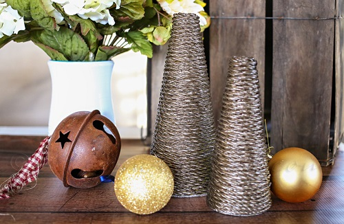 metallic rope tree craft