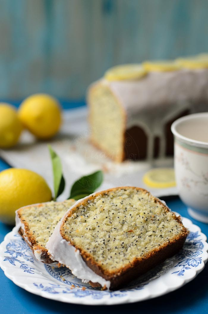 soft and moist lemon poppy seed cake