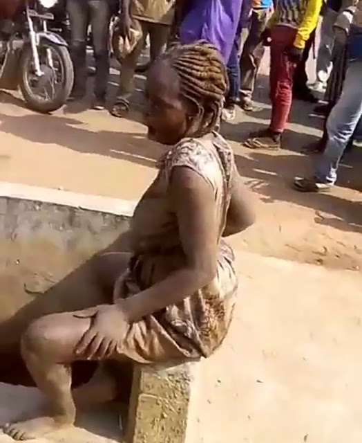 See Viral Video Of Slay Queen That Went Mad Today After Stepping Down From A Lexus Jeep.