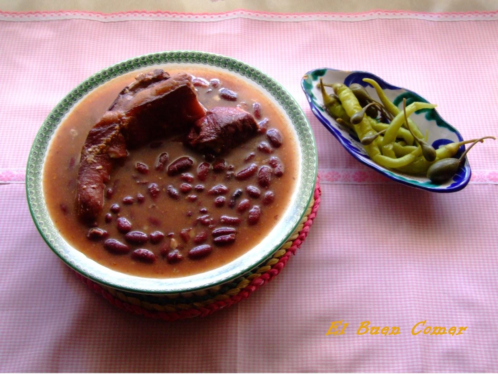 El buen comer alubias rojas - Alubias rojas con costilla ...