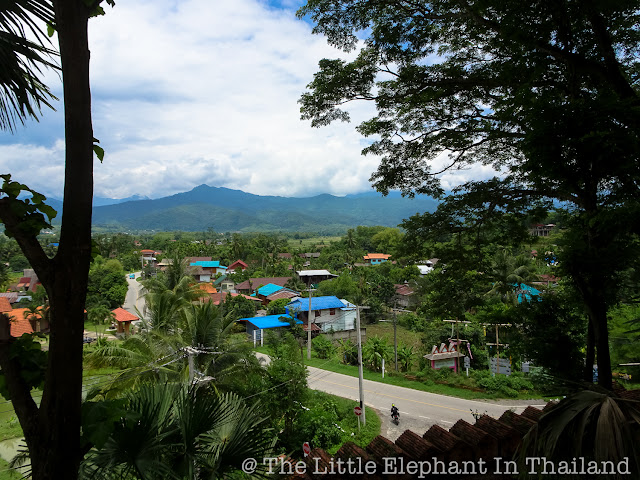 View from the Wat Phra That Beng Sakat in Pua