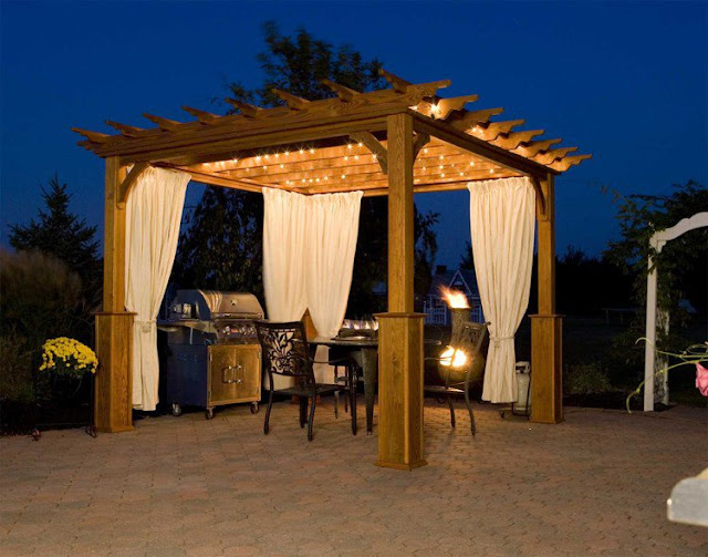 Pergola Design Ideas With Curtains