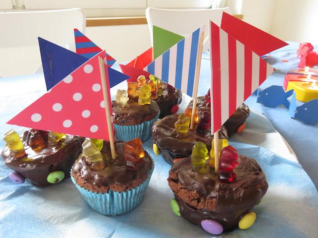 Segelboot- Muffins