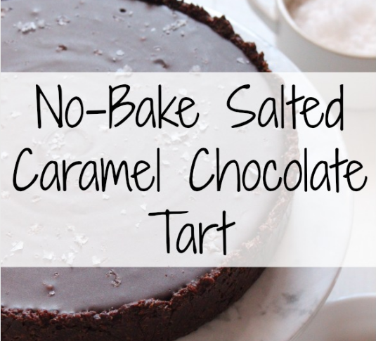 No-Bake Salted Caramel Chocolate Tart