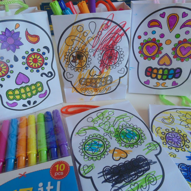 Baker Ross,  day of the dead gift bags