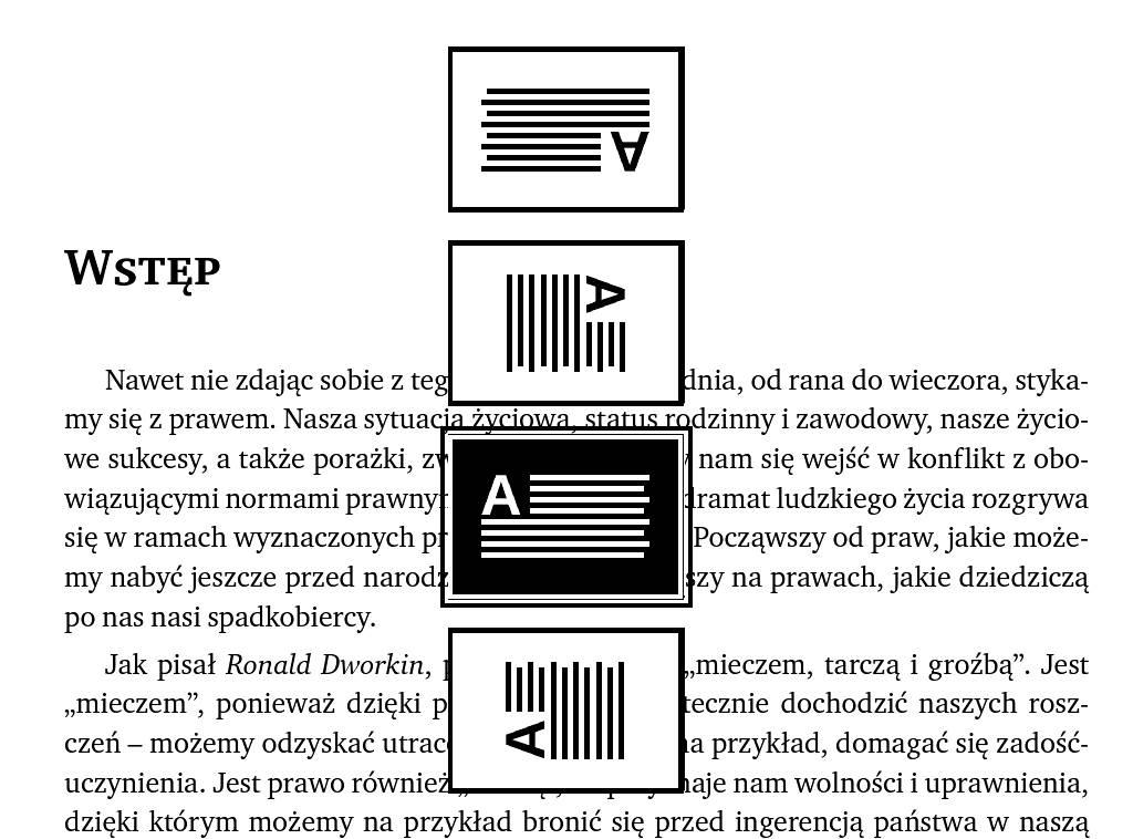 Obracanie tekstu w PocketBook Basic Lux 2