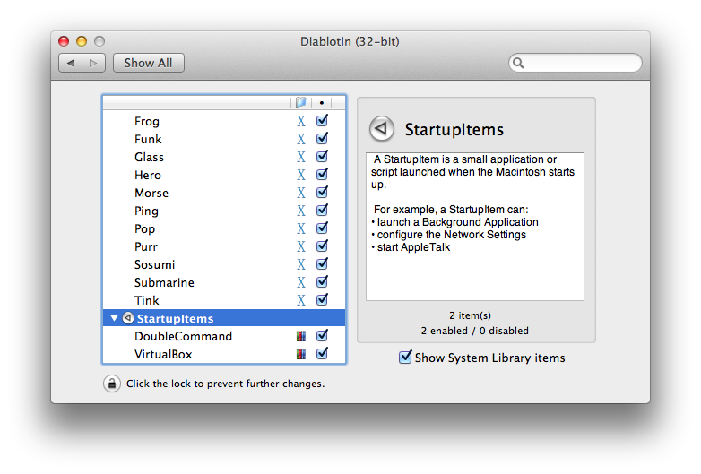 mac and i: Diablotin - Manage Mac OS X System Extensions