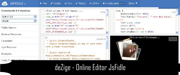 Online Editor CSS HTML Javascript 6