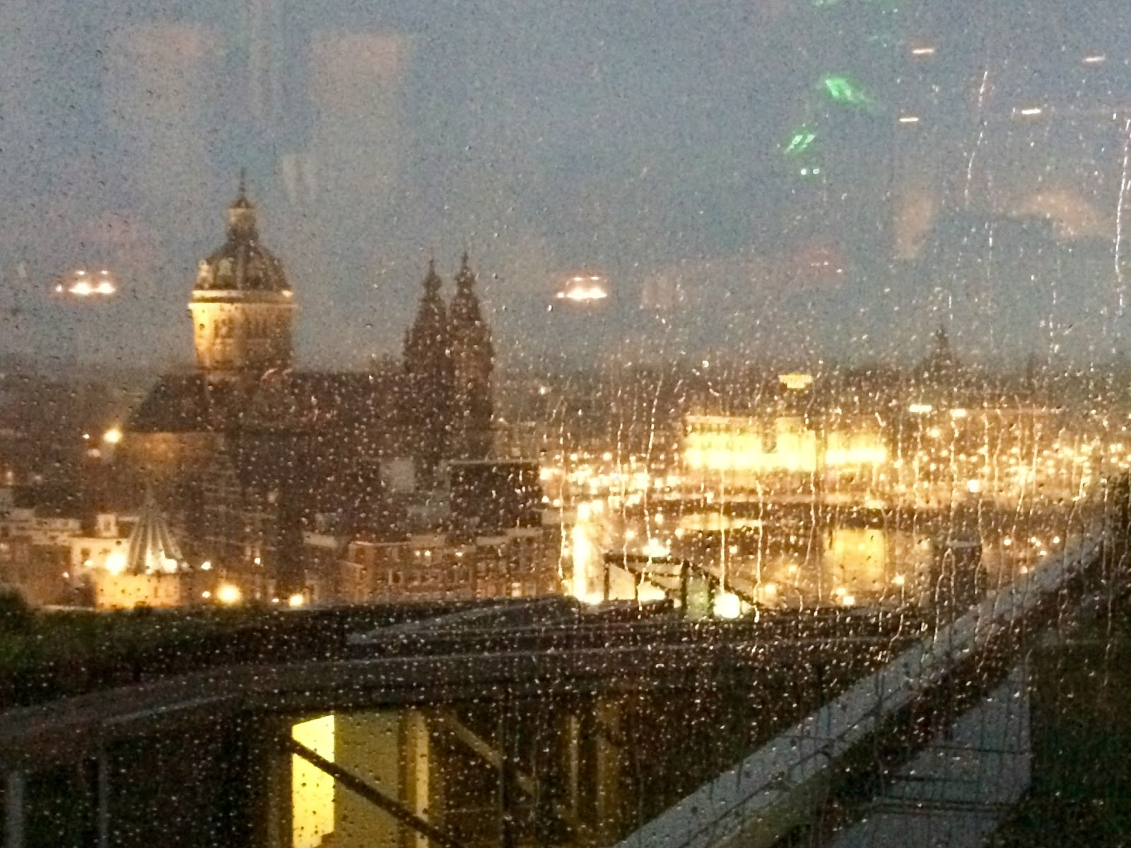 Amsterdam Sky Garden in the Rain