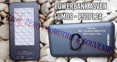 Powerbank Asven Lumos , P50PL24, souvenir powerbank asven, atau powerbank lumos