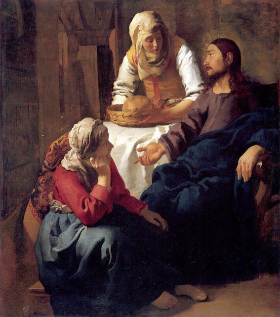 Ян Вермеер ван Дельф. Христос в доме Марфы и Марии.