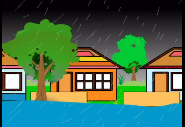 Film animasi pendek - Tema : Banjir
