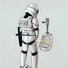 Soldado imperial en el WC