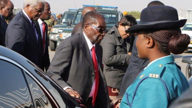 Robert Mugabe jokes over health rumours