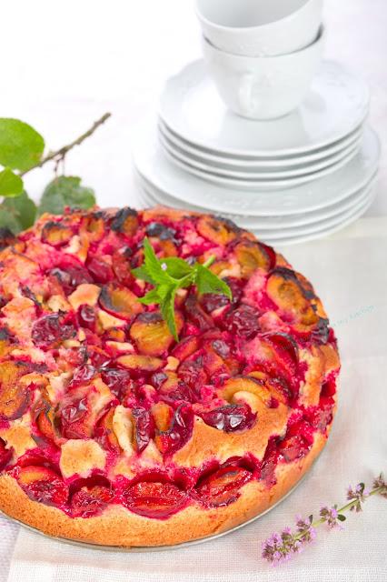 Rezept für Pflaumen-Kuchen. Edyta Guhl.