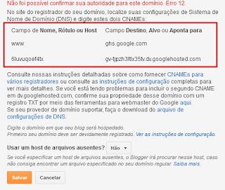Como utilizar domínio próprio no Blogger pela Hostgator